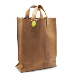 Paper Bag with Woven Fabric