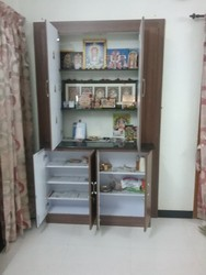 Wooden Pooja Cupboard