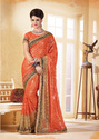 Cotton Heavy Designer Embroidery Sarees With Blouse Piece
