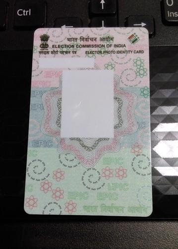 Double Sided Pvc Epic Card Voter Id Card Rs 5 Piece Id