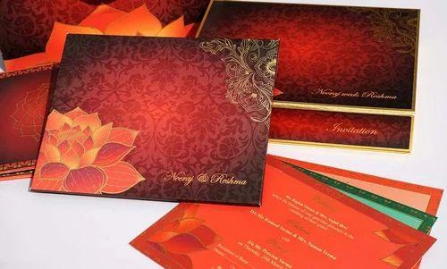 Lotus Indian Wedding Card at Rs 450 piece Sector 6 Noida