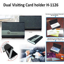 Dual Visiting Card Holder H-1126