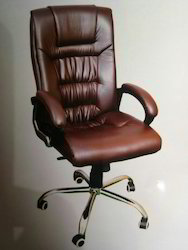30cf452e4a5 Brown Leather Office Chair