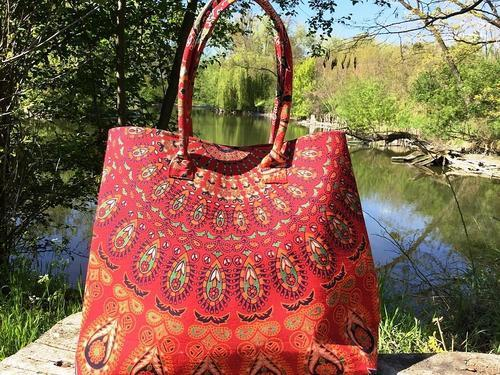 2e066b73f91e Ladies Mandala Purse Indian Handmade Tote Bag Women Shoulder