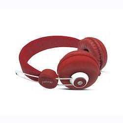 Pebbel Red Wired Headphone