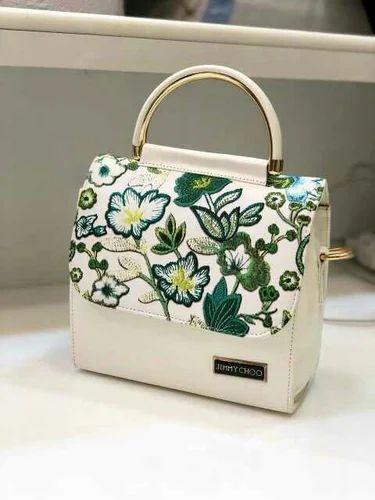 Jimmy Choo White Sling Bag