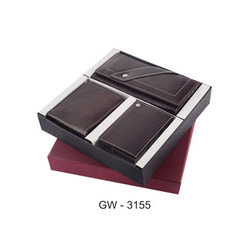 Corporate Leather Wallet Gift Set