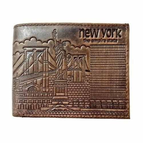 14cc5356bd New York Theme Leather Wallet