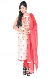 Chanderi Embroidered Salwar Suit