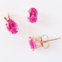 Pink Quartz Gemstone Necklace Set