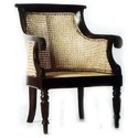 Brown And Off-white Antique Caned Chair