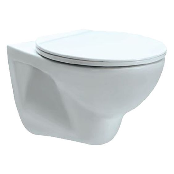 White P Trap Wall Hung Commode - Cera, Simpolo, Hindware