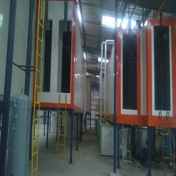 Spray Pretreatment  With Water Drying Oven