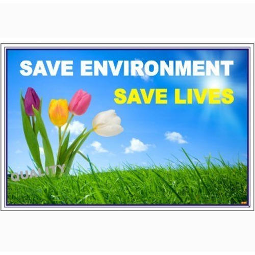 Environment Safety Industrial Poster At Rs 100 Square Feet