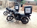 Green Motorbikes Delivery Boxes