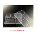 Plastic 5 Compartment Meal Tray, Size: 160x110x30mm