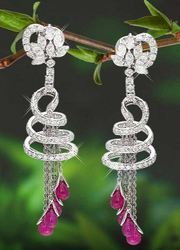 94d6d7f75 Retailer of Lotus Stud Earring & Diamond Necklace by Kirtilal ...