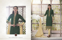 Embroiderd Straight Cut Suit