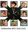 Sublimation MDF Wall Clock - Sublimation Blank Clocks