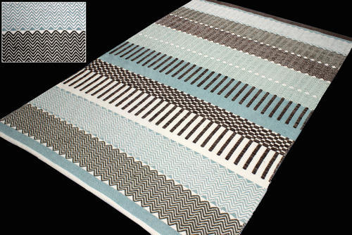Flat Weave Cotton Rug स त गल च In
