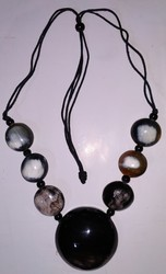 Studded Horn Button Necklace