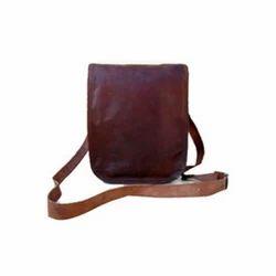 Portrait Double Buckle Leather Bag