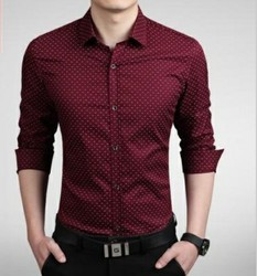 L And XL Cotton Printed Party Wear Shirt