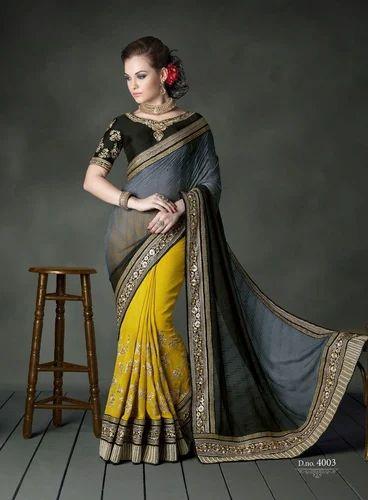11e1a2b657 Stunning Look Heavy Designer PartyWear Saree - Angels Fashion, Surat ...