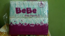 White with Design BeBe Regular Baby Diapers
