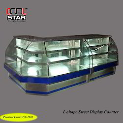 L-Shape Sweet Display Counter