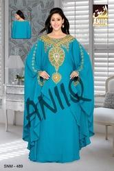 Dubai Fashion Beautiful Embroidery Maxi Dress 489