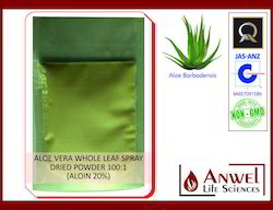 Aloe Vera Whole Leaf Spray Dried Powder 100:1 (20% Aloin)