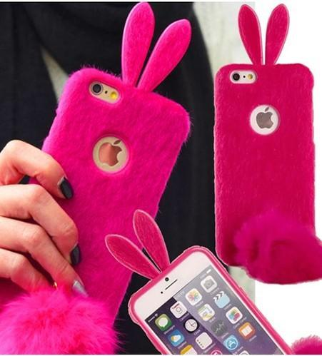 hot sale online e0360 b6477 Cute Rabbit Ear TPU Back Cover Case For IPhone 6 / 6S Plus - Mobile ...