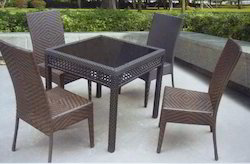 Back Comfort Style Wicker Outdoor Coffee Set