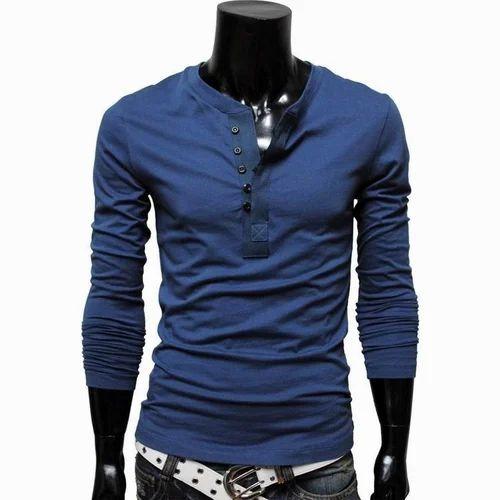 2336e4c28 Men's Designer T-Shirt, पुरुषों के लिए नीली ...