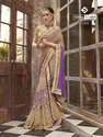 Lehenga Pattern Light Brown Saree
