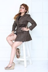 Regular Fit Woolen Ladies Coat
