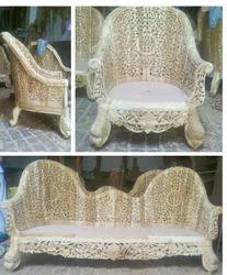MBK Wood Beige Sofa Set, Size: Traditional