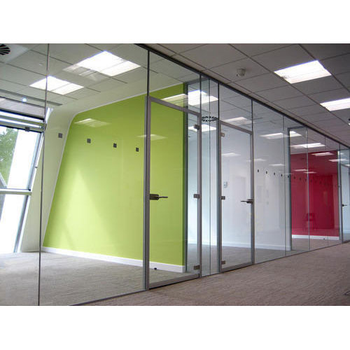 sound proof glass partition at rs 180 square feet glass partition