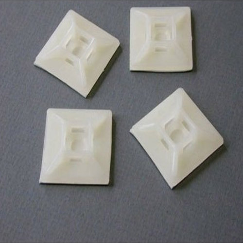 Natural White Plastic Self Adhesive Tie Mount Packaging