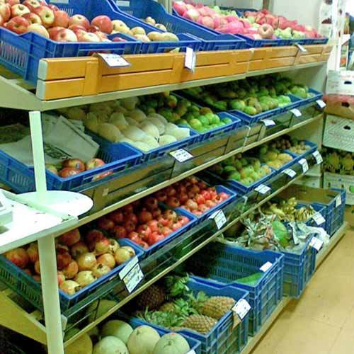 Supermarket Fruits Racks Vegetable Display Racks