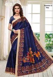 Kalamkari Silk New Saree, Machine