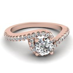 1.20Ct Engagement Diamond Ring in 14k Rose Gold