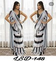 Ruffel printed saree