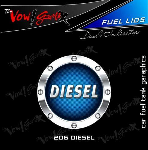 Car fuel tank decal sticker