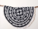Beach Patola Round Mandala Round Tapestry