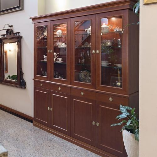 Wooden Crockery Almirah Designs, लकड़ी की अलमारी - Jay ...
