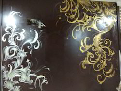 Gold & Pearl Wall Art, Material: Canvas, Design: Floral