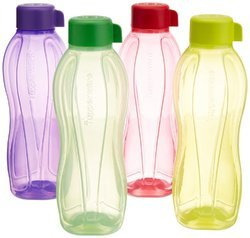 Yellow And Violet Tupperware Aquasafe Water Bottle Set Capacity: 1Ltr