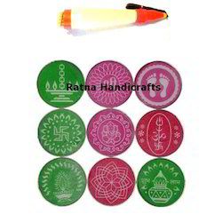 Ratna Rangoli Kit With Stencils and Pens